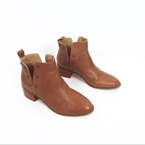 Franco Sarto | brown leather ankle boots size 7.5